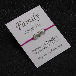 Jewelry - FAMILY FOREVER Pink Rope Charm Bracelet & Card